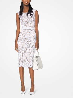 Michael Kors Floral Guipure Sheath Dress