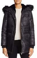 Jocelyn Star Nylon Fur Trim Cargo Down Coat - 100% Exclusive
