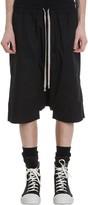 Drkshdw Drawstring Pods Shorts In Black Cotton