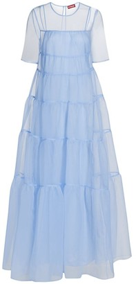 STAUD Hyacinth Tiered Organza Dress