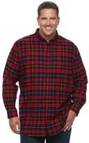 Croft & Barrow Big & Tall True Comfort Classic-Fit Flannel Button-Down Shirt