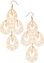 Max & Chloe Collection V Gold Filigree Four Teardrop Earrings