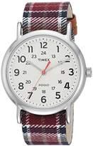 Timex Women's TW2R42200 Weekender 38 Fabric Slip-Thru Strap Watch