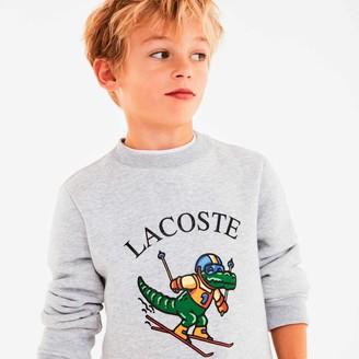 Lacoste Boys' Skiing Crocodile Print Fleece Sweatshirt Gift Set