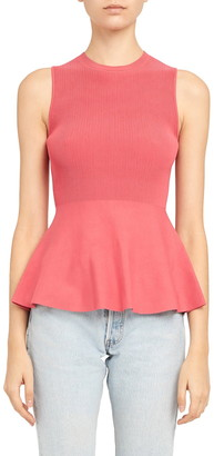 Theory Sleeveless Peplum Sweater
