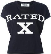 Jeremy Scott 'rated X' print T-shirt - women - Cotton - XS