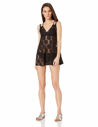 Cole of California Women's Lace Slip X Back Cover Up Dress