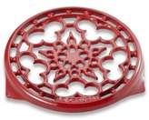Le Creuset Deluxe 9-Inch Round Trivet in Red