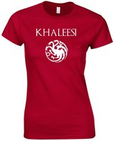 Gildan KHALEESI HOUSE TARGARYEN SHIRT GAME OF THRONES WOMENS TEE (L, Cherry Red)