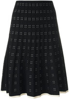 Tory Burch pleated dot patterned skirt