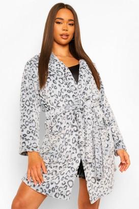 boohoo Burnout Leopard Dressing Gown