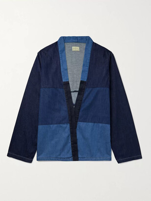 KAPITAL Patchwork Denim Jacket - Men - Blue