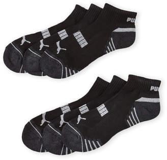 Puma 6-Pack Logo Quarter Crew Socks