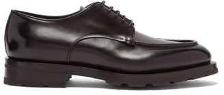 Santoni Chunky-sole Leather Derby Shoes - Black