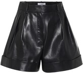 Valentino High-rise wide-leg leather shorts