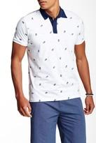 Micros Pineapple Print Jersey Polo