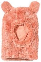 Mini Rodini Pink Faux Fur Balaclava