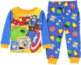 Marvel Avengers Character Powers Little Boys' Toddler 2 Piece Pajama Set