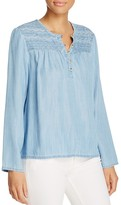 Sanctuary Quinn Embroidered Chambray Top - 100% Exclusive