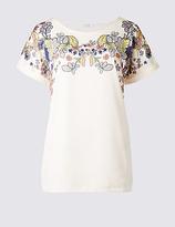 Classic Floral Print Short Sleeve T-Shirt