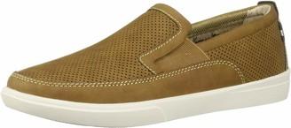 Margaritaville Men's Upbrush Leather Slip On Shoe Loafer Light Tan 11.5 Regular US