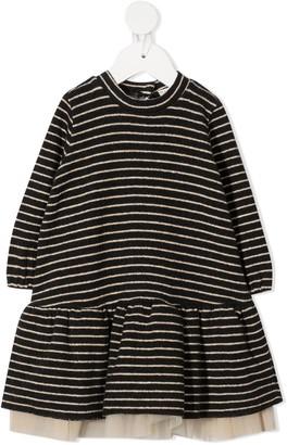Zhoe & Tobiah Tulle Underlay Knit Dress