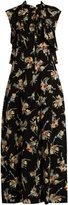 Marni Rustle-print ruffle-trimmed silk dress