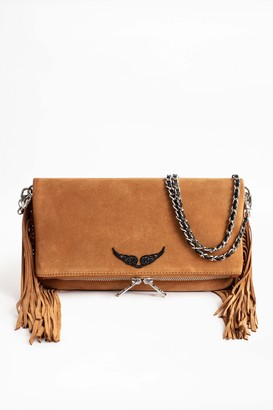 Zadig & Voltaire Rock Suede Fringes Clutch