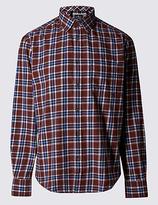 Blue Harbour Pure Cotton Long Sleeve Flannel Shirt