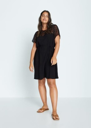 MANGO Violeta BY Rodeo T-shirt black - 10 - Plus sizes