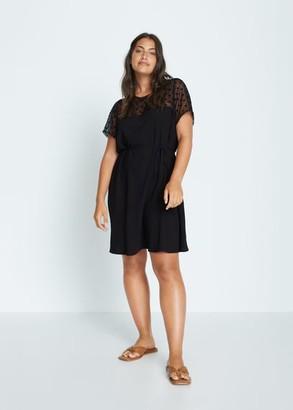 MANGO Violeta BY Rodeo T-shirt black - 12 - Plus sizes