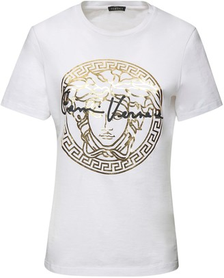 Versace Medusa & Signature Cotton Logo T-Shirt