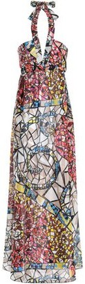 Emilio Pucci Printed Silk-georgette Halterneck Maxi Dress
