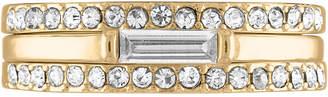 Rachel Roy Gold-Tone 3-Pc. Set Pave & Baguette-Cut Crystal Stack Rings