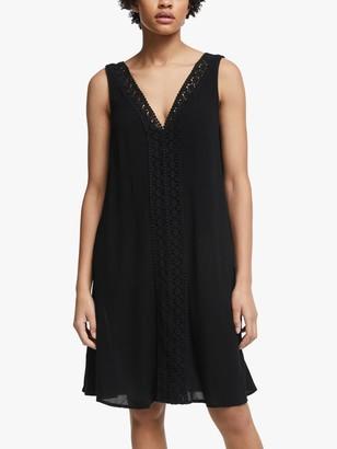 John Lewis & Partners Guipure Lace Midi Dress, Black