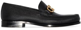 Salvatore Ferragamo black Rolo leather loafers