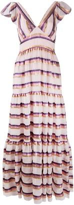 Temperley London Melina tiered maxi dress
