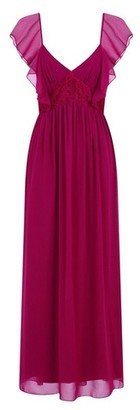 Dorothy Perkins Womens **Little Mistress Mulberry Lace Maxi Dress