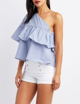 Charlotte Russe One-Shoulder Ruffle Top