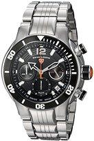 Swiss Legend Men's 'Sharkarma' Quartz Stainless Steel Casual Watch, Color:Silver-Toned (Model: 14083SM-11-BB-OA)