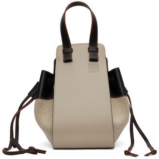 Loewe Beige and Black Small Hammock Bag