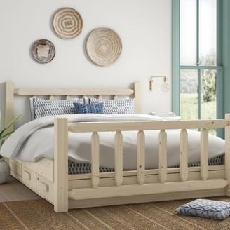Loon Peak Abella Solid Wood Storage Platform Bed Color: Natural, Size: Queen