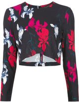 Thakoon flower print cropped top - women - Spandex/Elastane/Viscose - 0