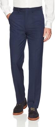 Nautica Men's Bi-Stretch Slim Fit Suit Separate (Blazer and Pant) Navy Plaid