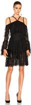 Wes Gordon Off Shoulder Dress in Black.