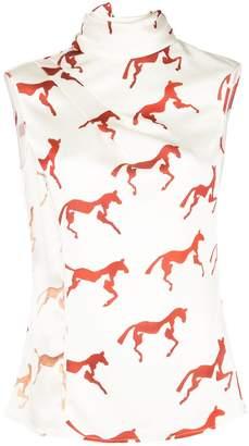 Rojas Alejandra Alonso horse print blouse