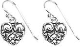 Barse Women's Scroll Heart Earrings BASIE16SS