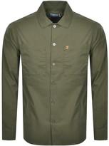 Farah Dallam Long Sleeve Overshirt Green