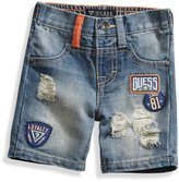 GUESS Destroyed Patch Denim Shorts (12-24m)