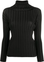 Pleats Please Issey Miyake pleated roll-neck top